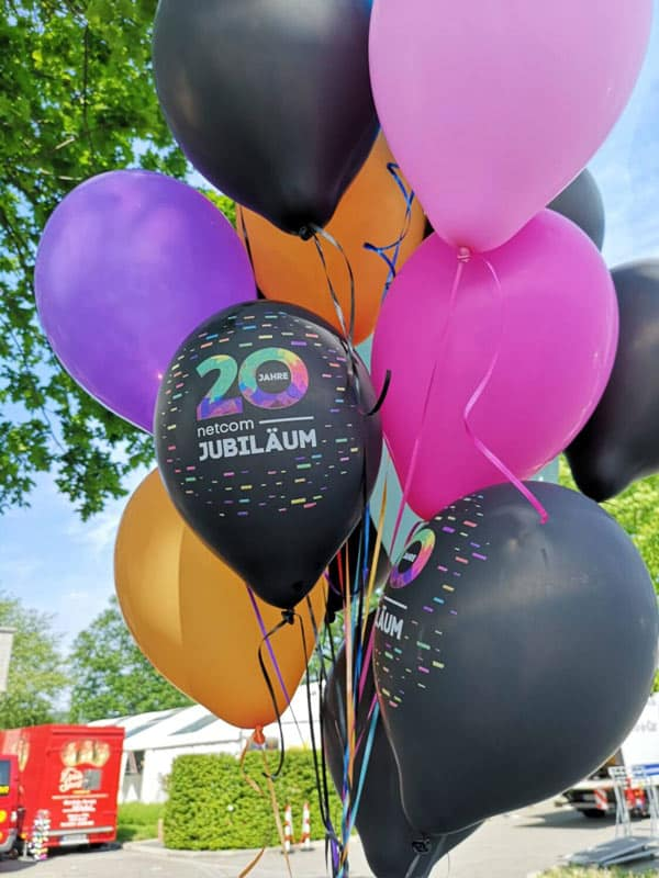 netcom Jubiläum Luftballons